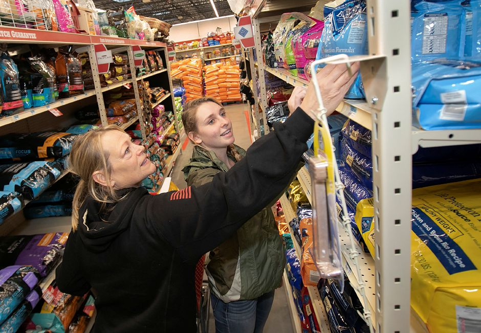 Cheryl Harrison, owner of Harrison Farms on the Cheshire-Walligford town line, left, and daughter, Hannah, shop for pet supplies at the new Tractor Supply Co. at 801 N. Colony Rd. in Wallingford, Mon., Nov. 5, 2018. The business is holding a soft opening this week and will have a grand opening this weekend. Dave Zajac, Record-Journal