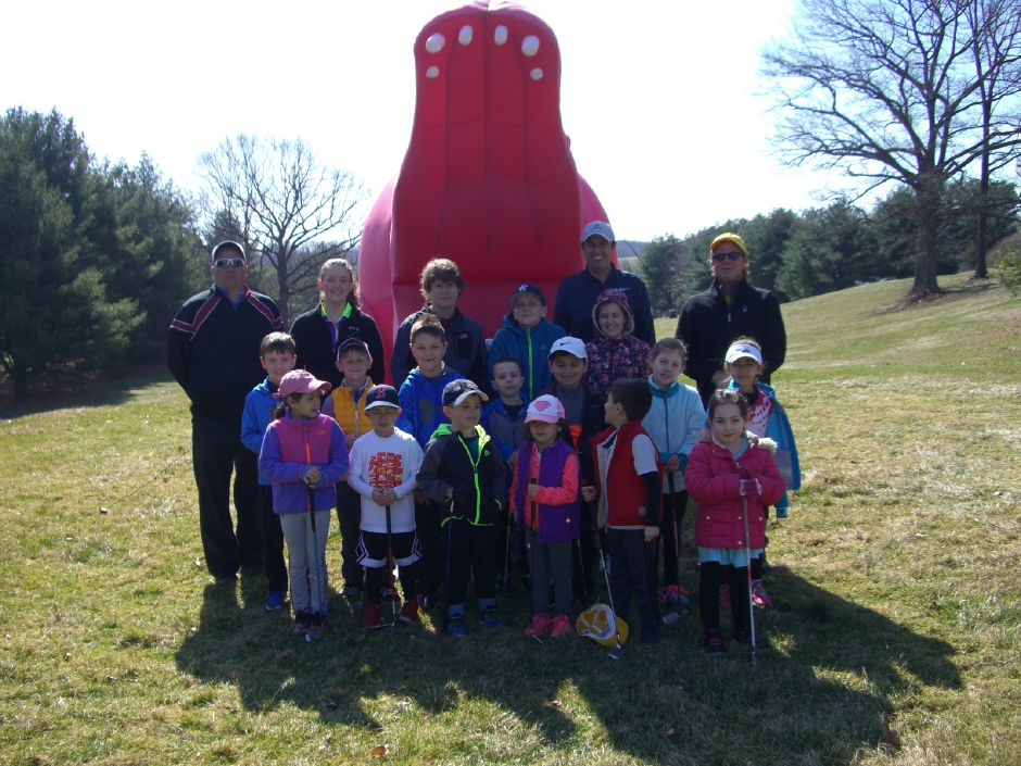 Seventeen youngsters age 5 to 13 took part in Timberlin's Be BERLIN Proud Spring Junior Golf Clinic.