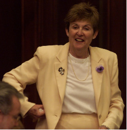 File photo - Rep. Mary G. Fritz in the House of Representatives at the state Capitol on May 7, 2002 in Hartford.
