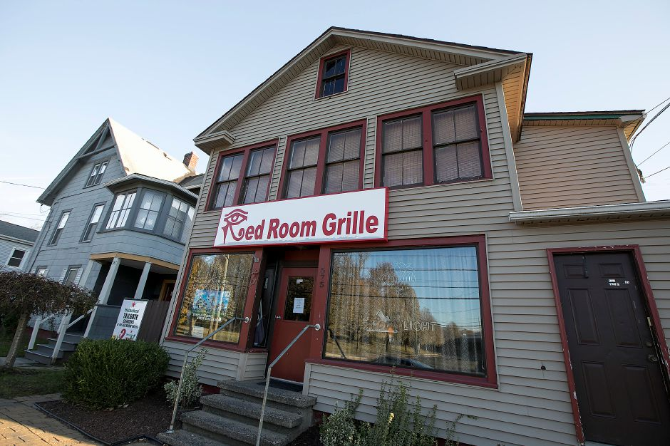 Red Room Grille on North Colony Street in Meriden, Tuesday, Nov. 21, 2017. The state Department of Consumer Protection has issued the business a summary suspension after a man was injured in a shooting at the establishment early Saturday. | Dave Zajac, Record-Journal