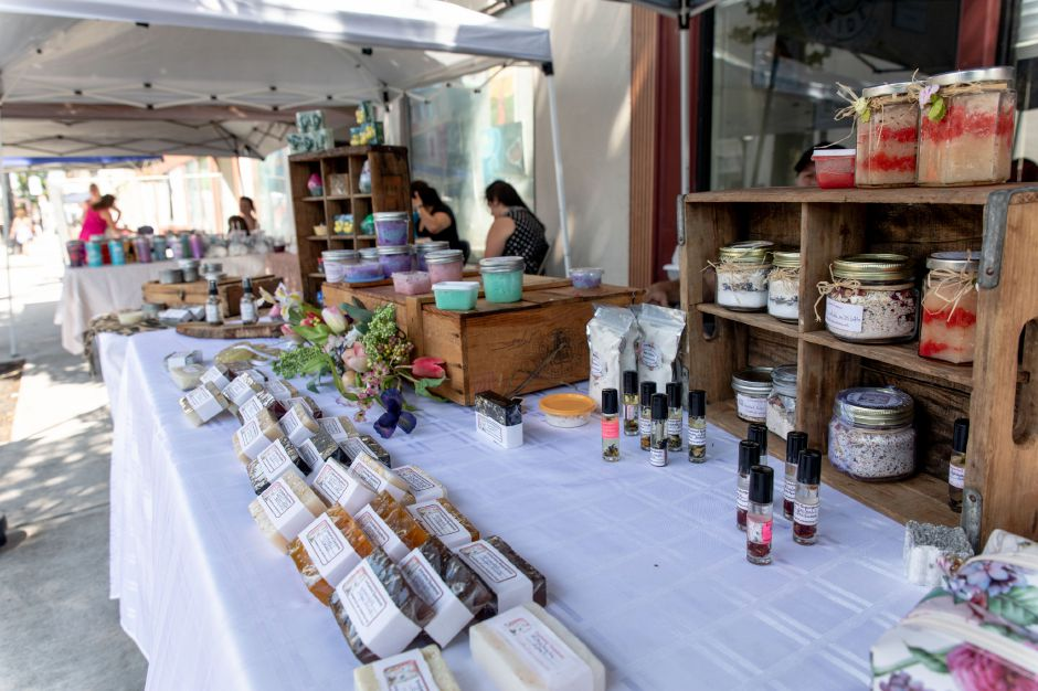 Homemade soap and skin care products on sale at Sandy Nieves