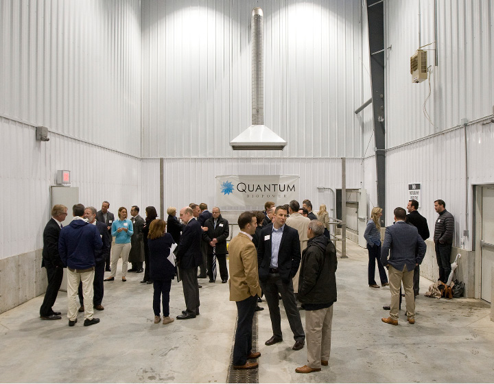 Company and state officials and guests gather at Quantum Biopower during an event marking the completed construction of the two-acre food waste to energy plant on DePaolo Drive in Southington, Tuesday, November 15, 2016.  | Dave Zajac, Record-Journal