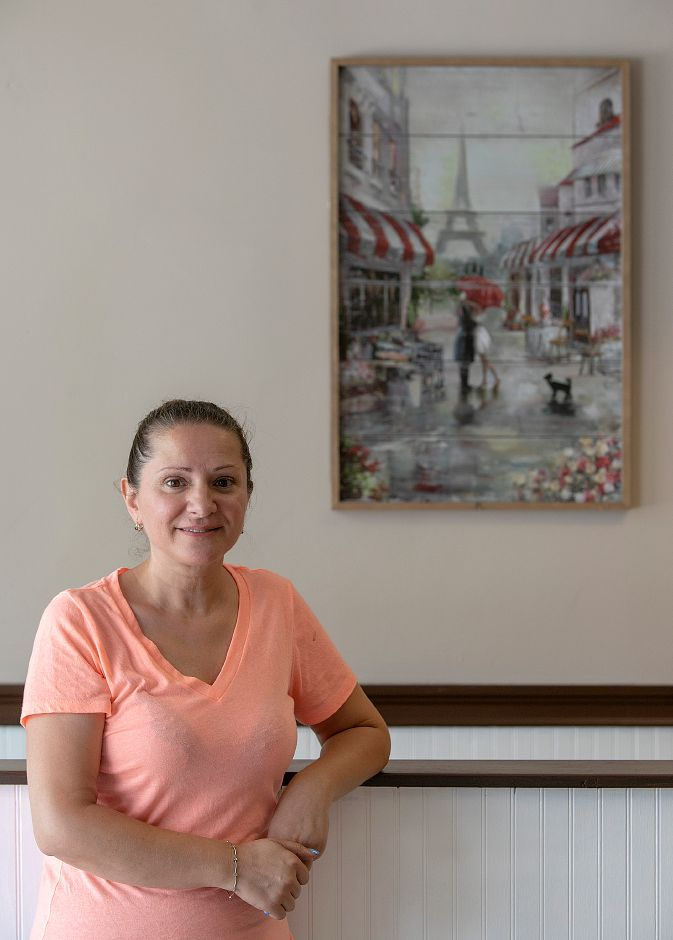 Kuitima Dalipovski, of Waterbury, will be opening Downtown Coffee Shop in the former Cafe Dolce space at 33 W. Main St. in Meriden, Thursday, August 23, 2018. The business is currently under renovation and will open Monday. Dave Zajac, Record-Journal