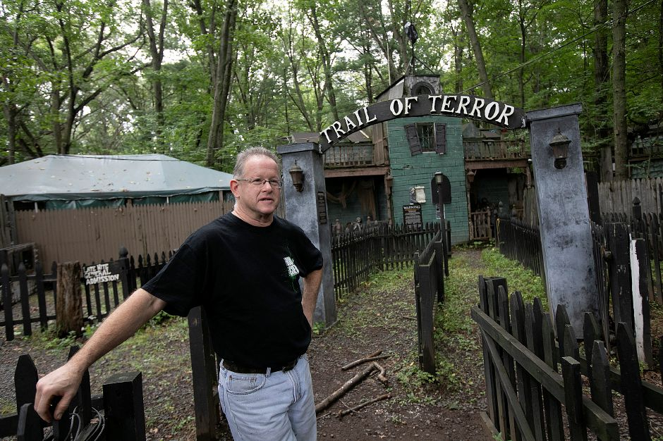Wayne Barneschi, owner/founder, talks about this year's Trail of Terror in Wallingford. The popular attraction begins Sept. 29. Photos by Dave Zajac, Record-Journal