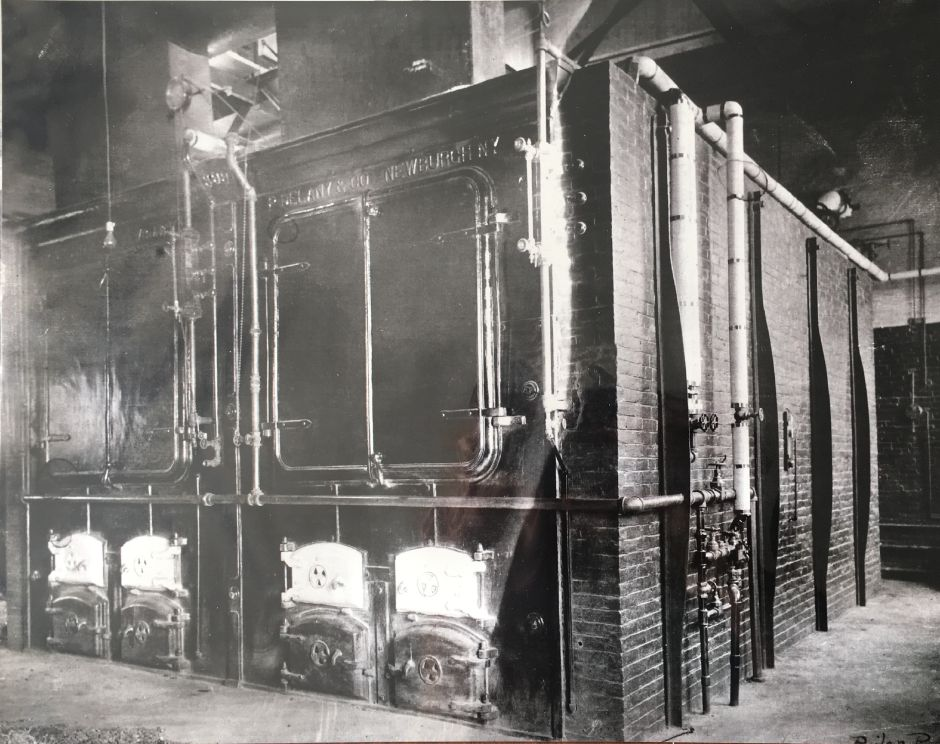 Coal furnace inside the Borough of Wallingford Electric Works electricity generating plant, early 1900s. | Courtesy of Wallingford Historical Society