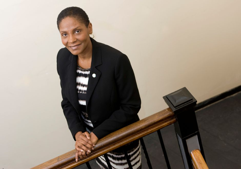 Sonya Jelks, of Meriden, is the Democratic candidate for the City Council Area 1 seat, Wednesday, September 16, 2015. | Dave Zajac / Record-Journal