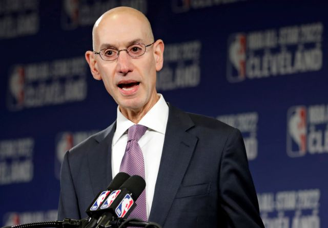 FILE - In this Nov. 1, 2018 file photo, NBA Commissioner Adam Silver announces that the Cleveland Cavaliers will host the 2022 NBA All Star game during a news conference in Cleveland. The NBA is bringing a pro league to Africa. The Basketball Africa League, a new collaboration between the NBA and the sport