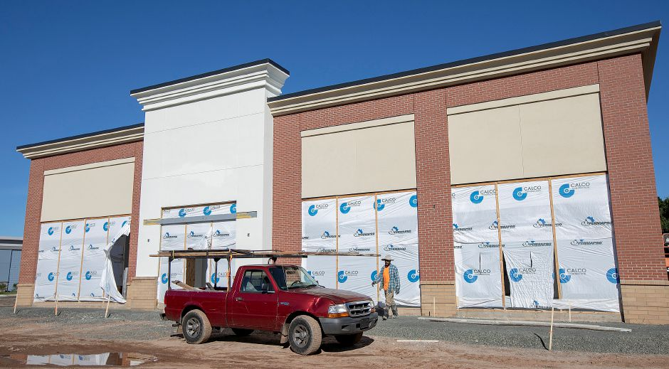 Construction continues on a Queen Street AAA center scheduled to open in December, Friday, Oct. 5. The center will be among a number of state Department of Motor Vehicles express locations. Dave Zajac, Record-Journal