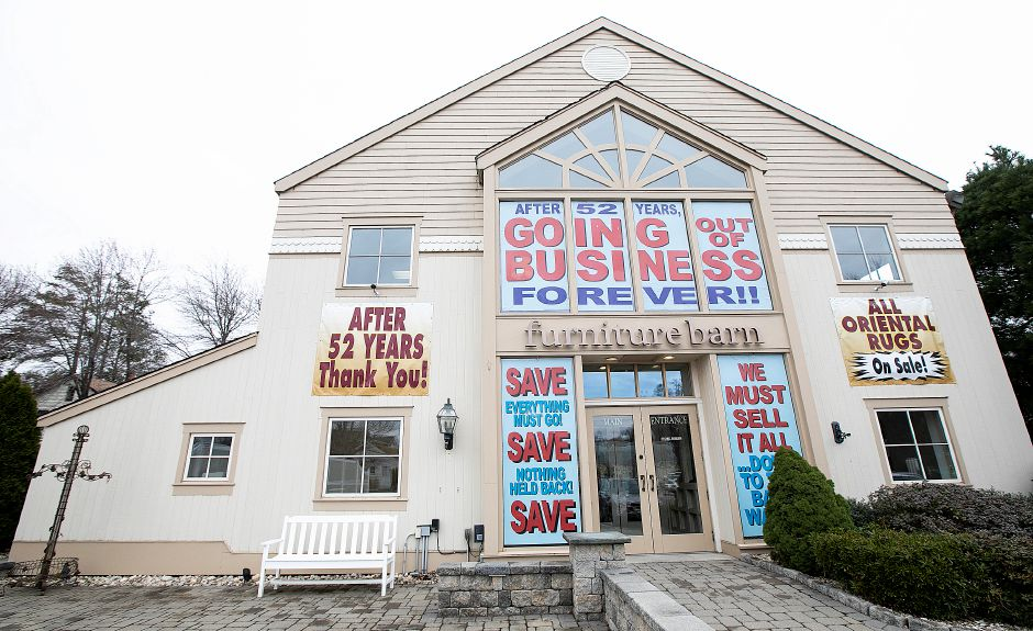 Furniture Barn, 535 W. Main St., Cheshire, Fri., Apr. 12, 2019. The business is closing after 52 years. Dave Zajac, Record-Journal