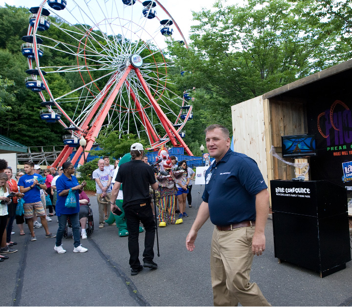"Jerry Brick, general manager of Lake Compounce, announced Friday that a new ""Phobia"" roller coaster is coming to the amusement park next year, Friday, July 10, 2015. ""Phobia"" will feature a triple launch system utilizing magnets and kinetic power. There will be an inversion at 150 feet high, and the coaster will reach speeds of 65 miles an hour.  