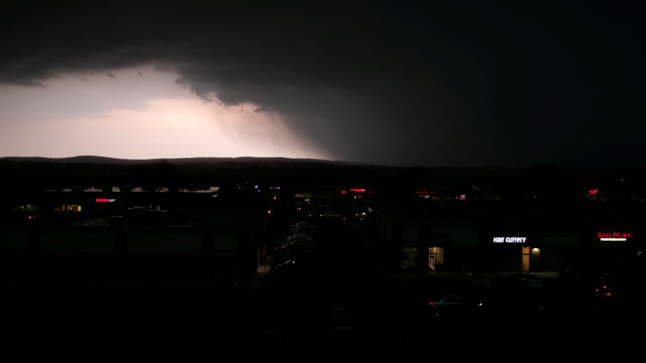 A severe storm over the Meriden area on Tuesday. | Dave Zajac, Record-Journal
