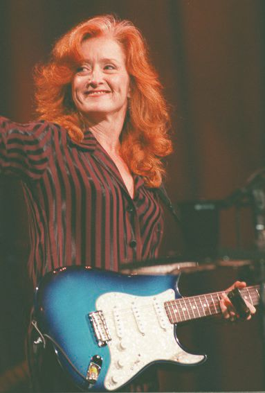 RJ file photo - Bonnie Raitt at Lilith Fair, July 1998.