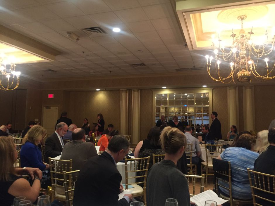 The Connecticut Society of Professional Journalists gathered at Grassy Hill Country Club in Orange Thursday, May 24, 2018 for the presentation of annual awards. Record-Journal staff won eight awards. | Bailey Wright, Record-Journal