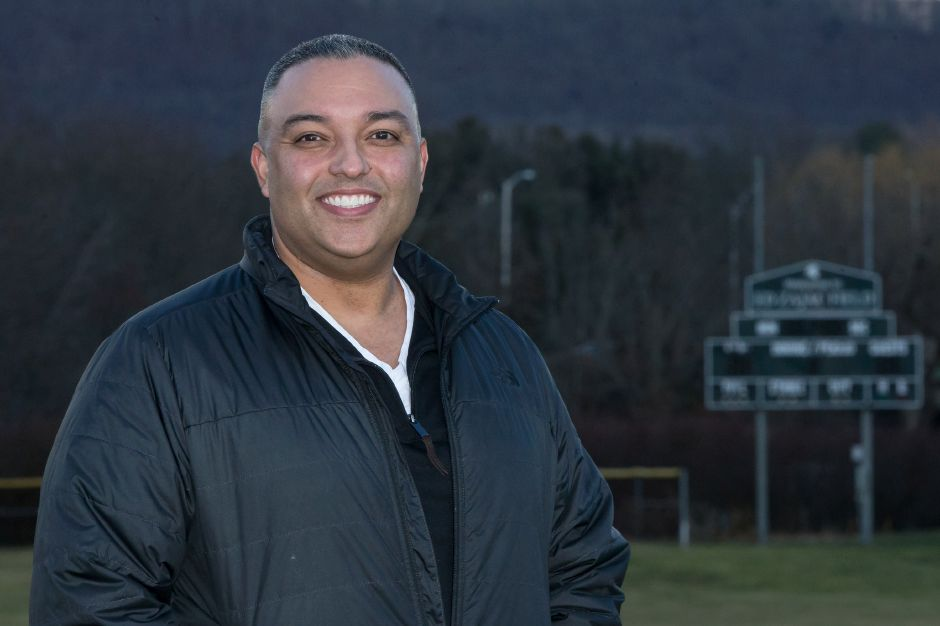 Ricky Marrero takes over the Maloney Spartans baseball head coach position for Howie Hewitt Monday at Maloney High School in Meriden January 7, 2019 | Justin Weekes / Special to the Record-Journal