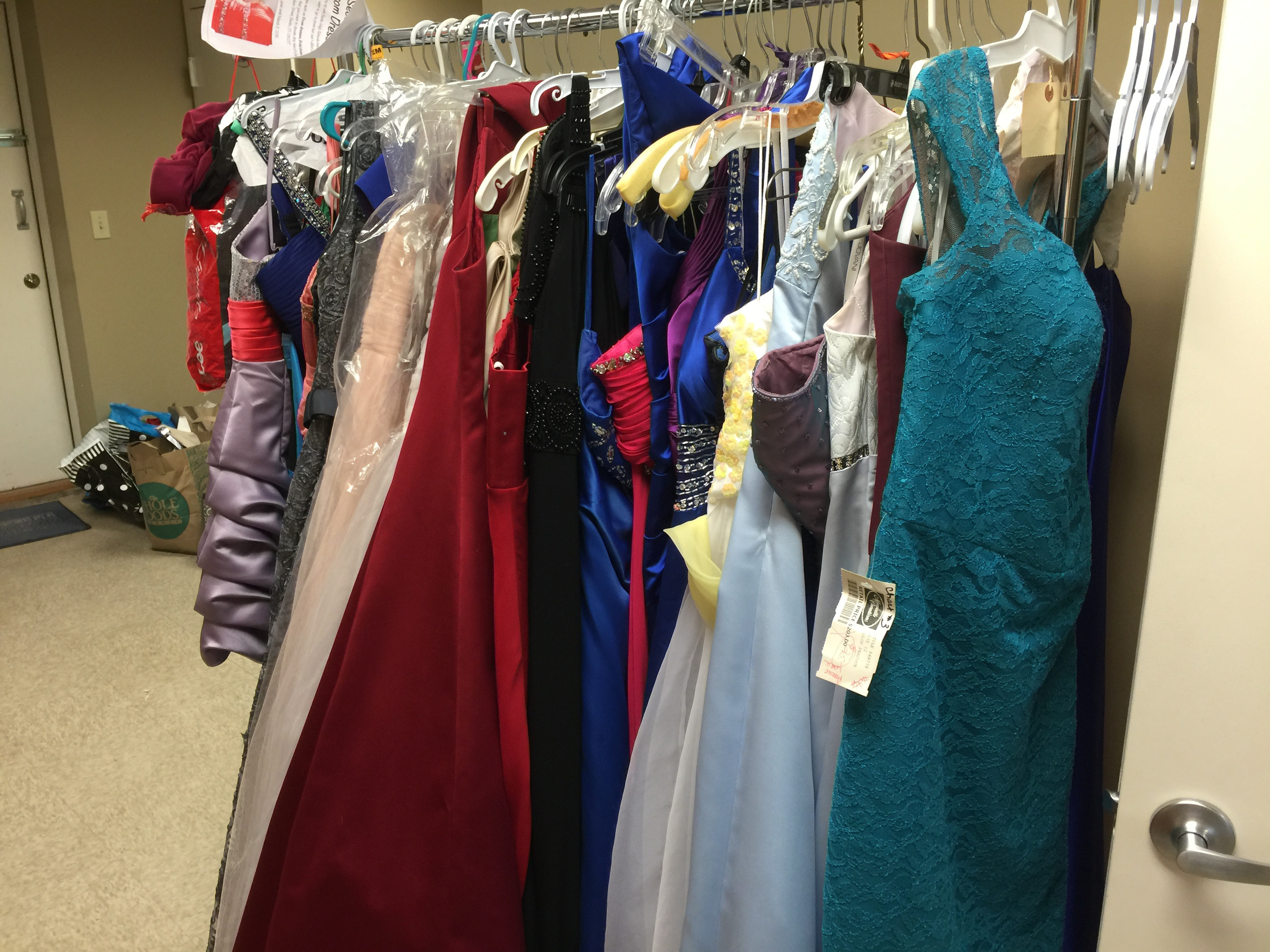 Dresses donated to Princess and the Prom as part of BHS Interact Club