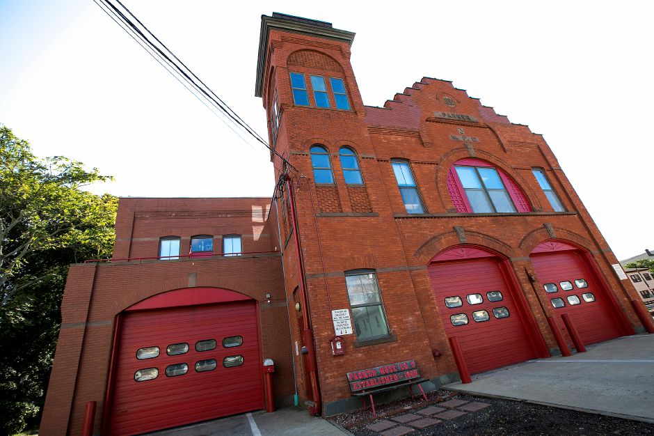 Meriden Fire Headquarters on Broad Street, Thursday, October 12, 2017.   | Dave Zajac, Record-Journal