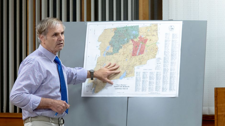FILE PHOTO: Berlin Water Department Manager Ray Jarema speaks at the Sept. 18, 2018 Town Council meeting. Jarema advocated consolidation of the town
