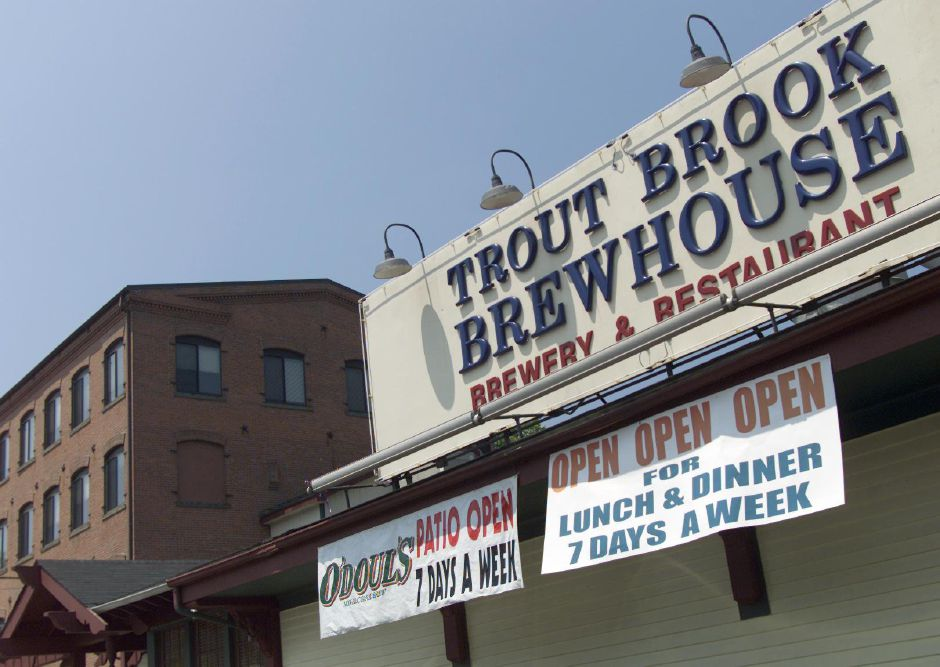 BIZ: Trout Brook Brew House in the Yalesville section of Wallingford. Photographed June 14, 2001.