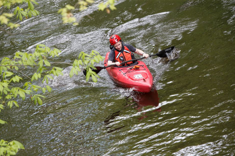 Sunday during the 38th annual Down River Classic on the Quinnipiac River in Meriden May 20, 2018 | Justin Weekes / Special to the Record-Journal
