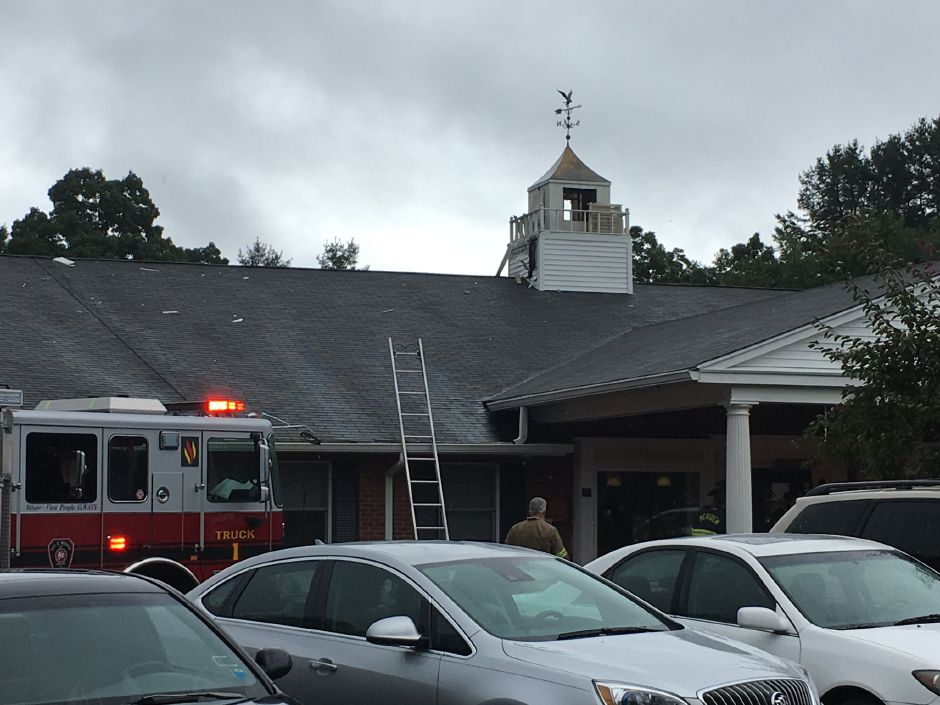 A lightning strike sparked an electrical fire at Coccomo Memorial Health Care Center | Ryan Chichester, Record-Journal
