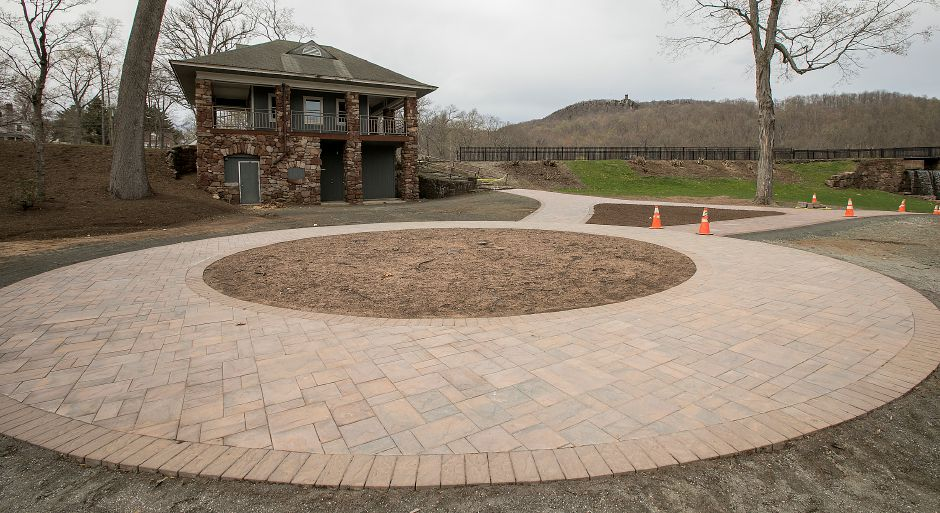 A new brick walkway installed at Hubbard Park in preparation for the annual Daffodil Festival in Meriden, Monday, April 17, 2017. Pre-festival is April 22nd & 23rd and the Daffodil Festival is April 29th & 30th. | Dave Zajac, Record-Journal
