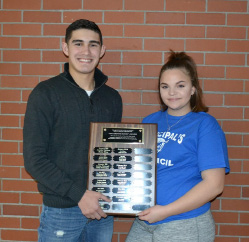 "Plainville High School students Jada Terell and Grant Sarra have been named recipients of the high school's Students Rock Award. In seeking a way to honor students who ""do the right thing every day,"" the Plainville High School Mentoring Committee, comprised of high school faculty members, created the Students Rock Award. According to the nomination guidelines, students to be considered for the award must assume responsibility for their behavior, contribute to the school and community, and appreciate the benefits of a physically, emotionally and socially healthy lifestyle."