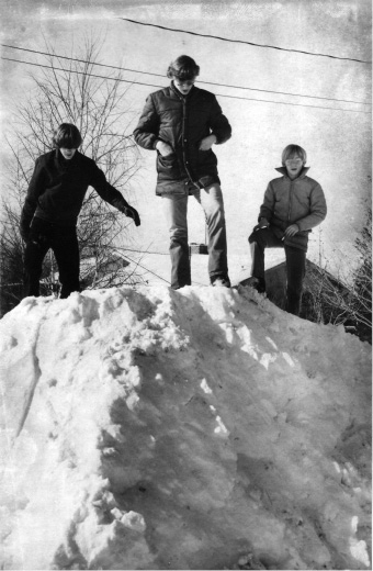 The Donovan brothers stand atop a snow mound in Meriden after the 1978 blizzard. | File Photo, Record-Journal