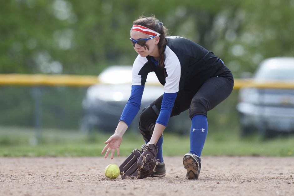 Wilcox Tech's Samantha Petro went 4-for-4 in Tuesday's 14-3 victory over Abbott Tech in the CTC Tournament semifinals. | Justin Weekes / Special to the Record-Journal