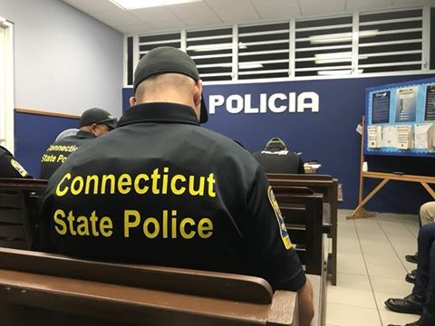 Connecticut State Troopers were deployed to Puerto Rico, including Berlin resident Sgt. Alex Giannone, to help with post-hurricane recovery. |Courtesy of CT State Police