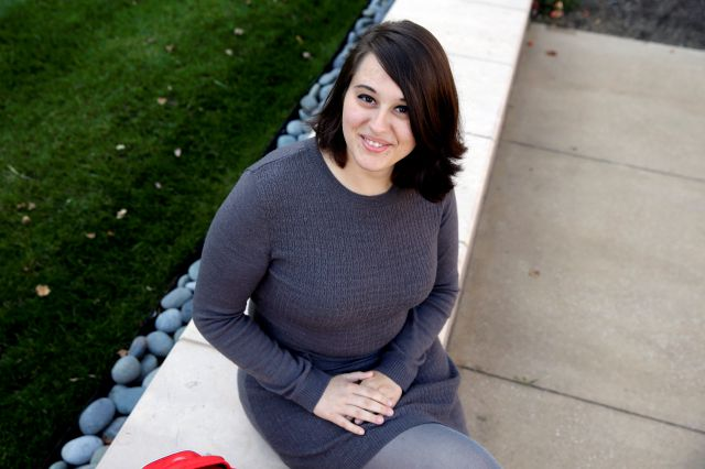 "FILE - In this Wednesday, Nov. 4, 2015 file photo, Miranda Taylor, 20, poses for a portrait outside Christ College of Nursing and Health Science in Cincinnati. When she was 16 and weighed 265 pounds, she had obesity surgery. Taylor lost more than 100 pounds, along with severe depression, pre-diabetes and an obesity-related hormonal condition. ""I feel awesome. It"