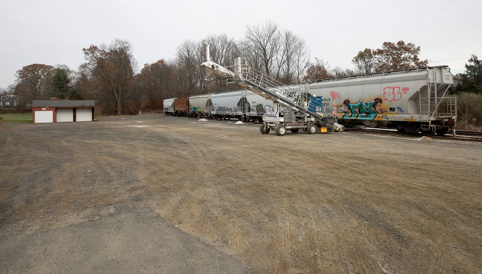 Palumbo Trucking Wallingford Rail Terminal #2 at 988 E. Center St. in Wallingford, Thurs., Nov. 14, 2019. A public hearing is scheduled for Monday to consider the suspension or revocation of the wetlands permit granted in June to Benchmark Land Development, the property owner of 988 E. Center St. Dave Zajac, Record-Journal