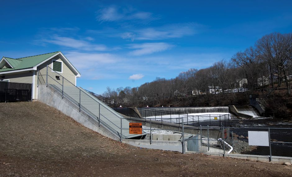 The Archimedes screw at Hanover Dam is out of commission, Thursday, March 15, 2018. Dave Zajac, Record-Journal