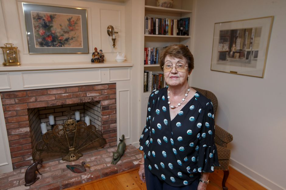 Cynthia Gutierrez, of Meriden, stands in her home Thursday. Through her philanthropic efforts, she has raised over $12 million for MidState Medical Center over the years.  Justin Weekes, special to the Record-Journal
