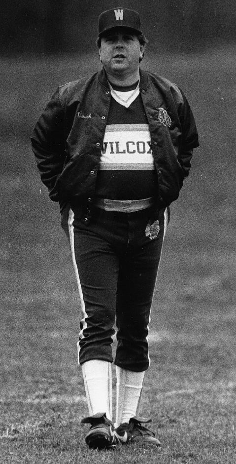 Wilcox baseball coach Chuck Burghardt Apirl 11, 1990. (RJ File Photo)