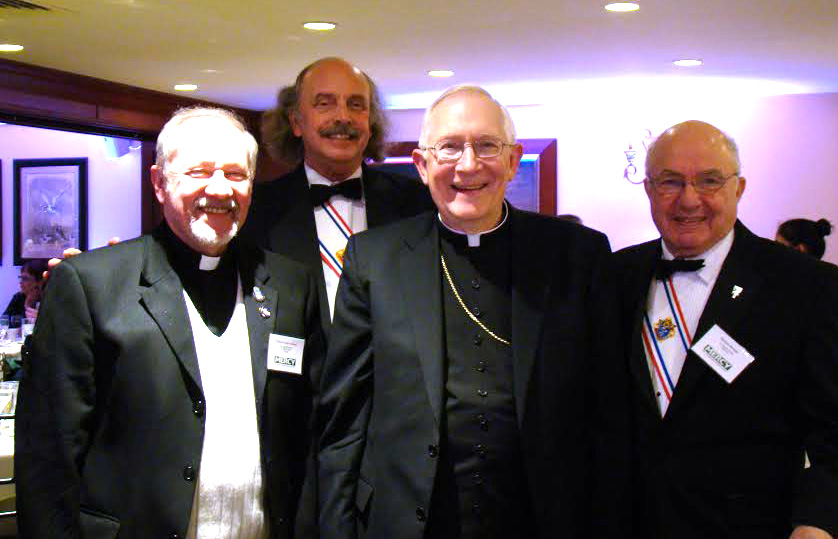 Fr. Gerry, Sir John, Archbishop Blair, and Sir Richard.
