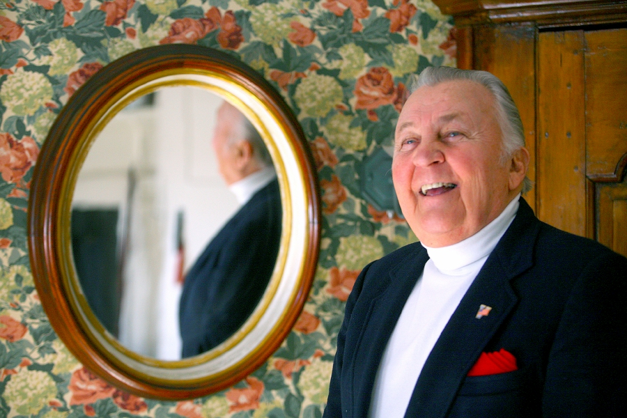 Walter A. Shamock Jr. stands in one of the rooms of his Meriden home in December 2009. The longtime city councilor died Friday morning. File photo, Record-Journal