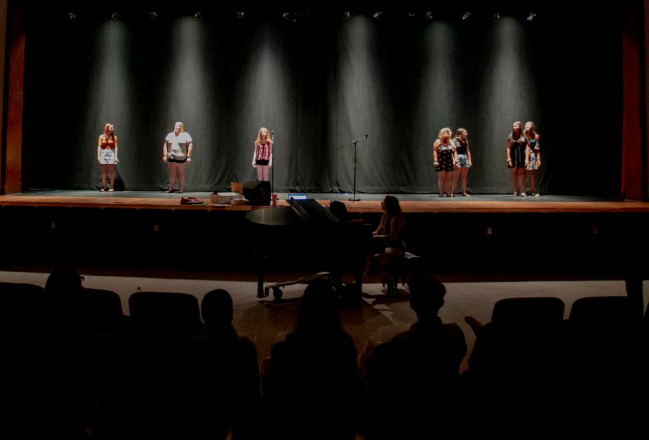 "Students from the Junior Performance Academy practice ""Seasons of Love"" at Sheehan High School in Wallingford July 10, 2019. 