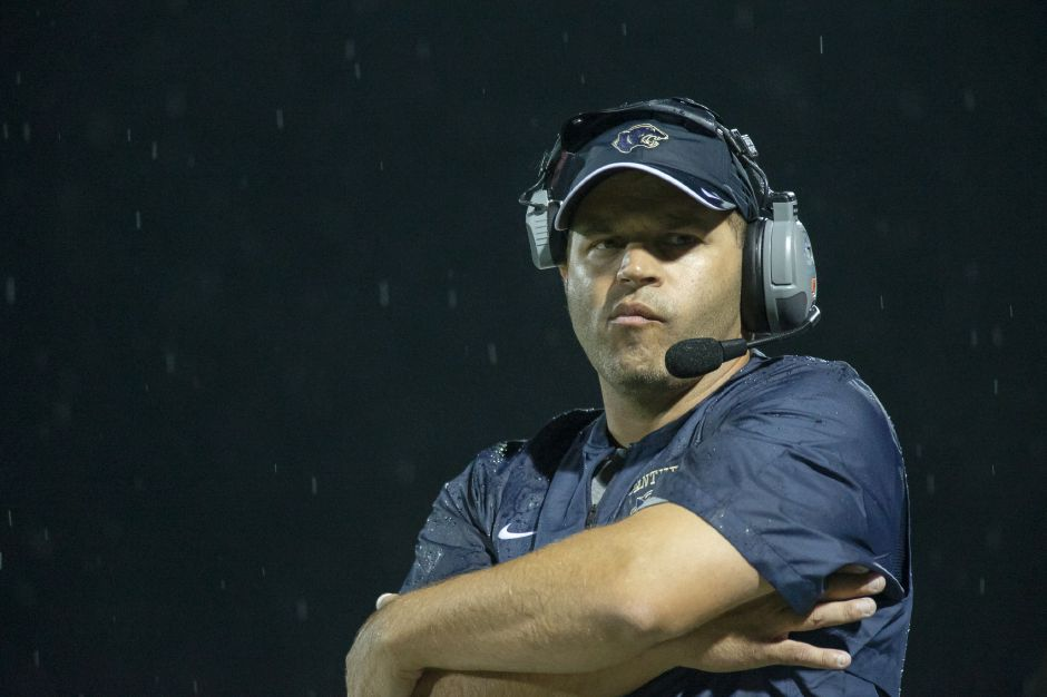 Coach Jason Bruenn and his Platt Panthers have a critical CCC Division II-West game on Friday night at Bristol Central. The Panthers, at 6-1 overall and 3-0 in CCC Division II-West, can clinch a least a share of the division title and strengthen their Class L playoff chances with a win. | Justin Weekes / Special to the Record-Journal