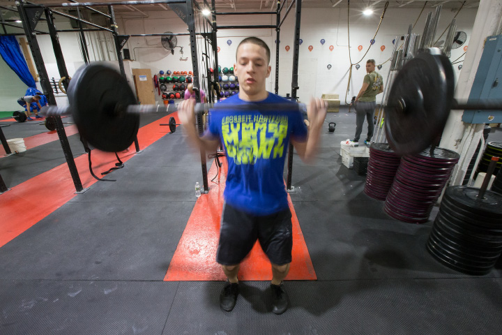 Doyon of Meriden works out at Cross Fit Meriden. | Justin Weekes, Special to the Record-Journal