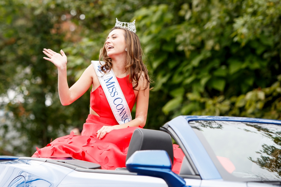 Miss Connecticut Bridget Oei rides in the Southington Apple Harvest Festival Parade on  Sept. 30, 2018. This year's festival begins on Friday, Oct. 4. It will run all weekend and next weekend, Oct. 11-13.Justin Weekes, special to the Record-Journal