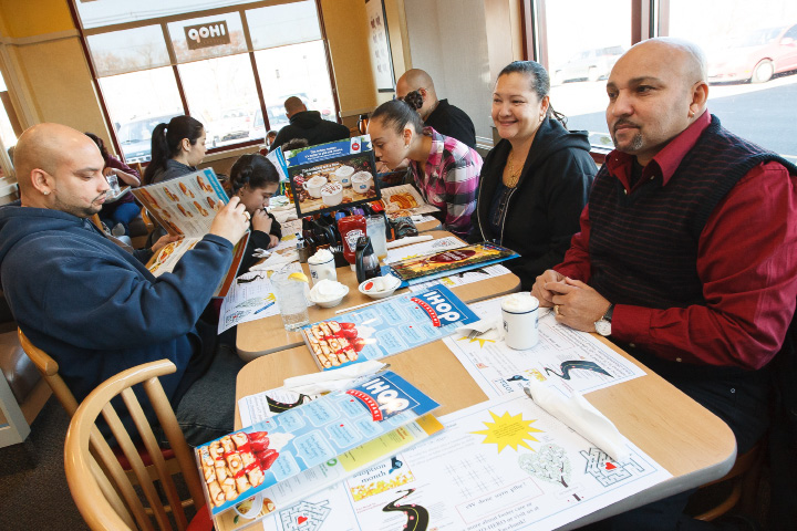 Members of the Santos family have breakfast at IHOP restaurant  in Wallingford Saturday morning  Nov., 16 2013 | Justin Weekes / For the Record-Journal