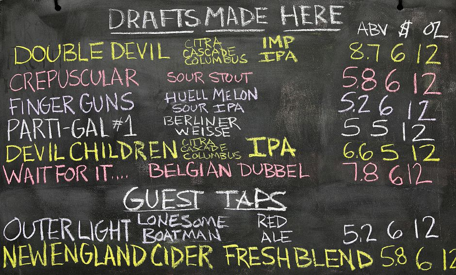 Menu of drafts available at Front Porch Brewing at 226 N. Plains Industrial Rd. Unit 4 in Wallingford, Friday, Feb. 2, 2018. Dave Zajac, Record-Journal