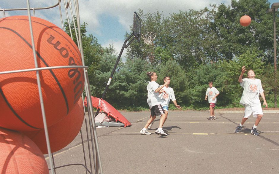 RJ file photo - The Hoop House Basketball Camp in Wallingford Aug. 12, 1998.