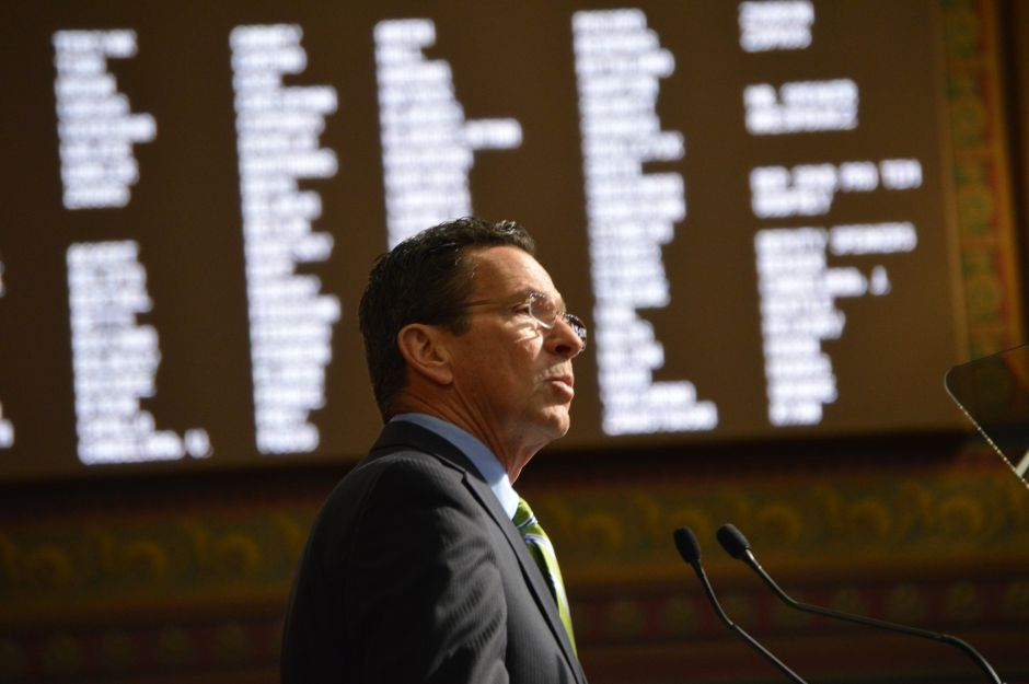 Gov. Dannel P. Malloy addresses the legislature (file photo).