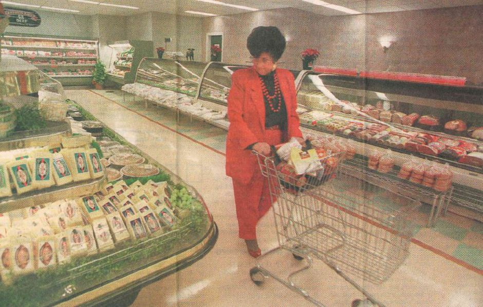 A shopper at Tops Market in December 1997. File photo, Record-Journal