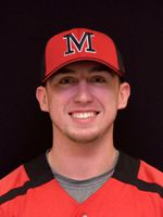 Meriden's Kyle Hartenstein, a senior second baseman at Mitchell College, recently reached the 200-hit plateau for his college baseball career. He is his school's all-time hits leader. | Photo courtesy of Mitchell College