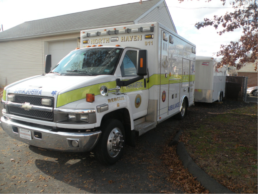 Rescue 2 looks fine from the outside but it has engine and other mechanical problems and must be replaced. The town approved an appropriation of $193,000 for a new rescue vehicle at a special town meeting Dec. 20. | Ken Liebeskind, The North Haven Citizen