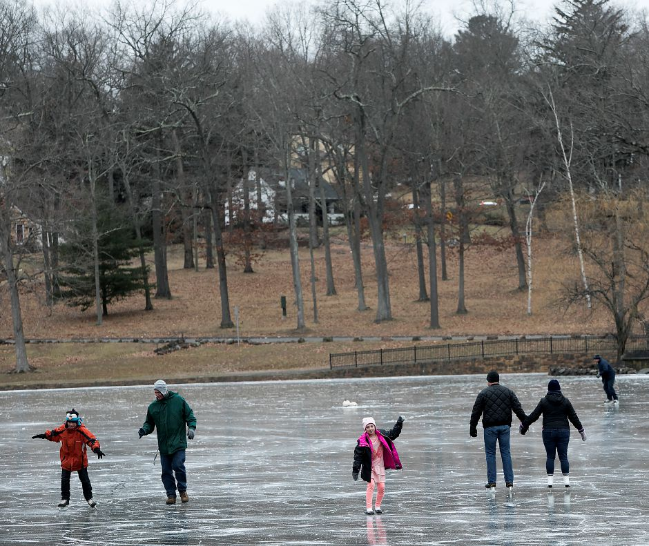For the first time in more than 10 years, Hubbard Park is open to public skating, Monday, Jan. 15, 2018. Dave Zajac, Record-Journal