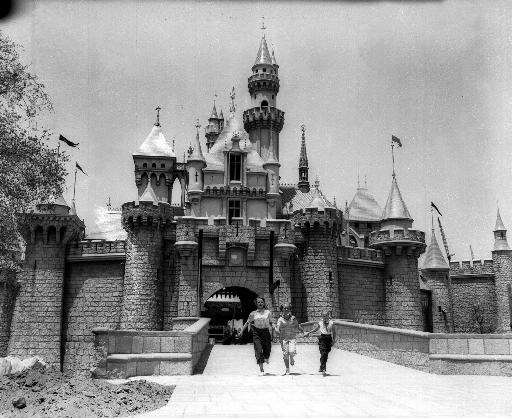 This pastle-colored Sleeping Beauty Castle, shown in this July 5, 1955 photo near completion, is to be the entrance of Fantasyland, one of the sections in the Disneyland Park which is to open on July 17, 1955.   (AP Photo)