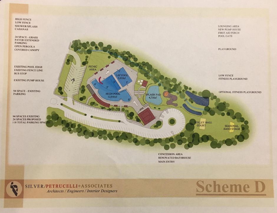 A proposed design for renovations at Wallingford Community Pool, as presented to Town Council by Parks and Recreation Department on Tuesday, Sept. 25, 2018. | Contributed